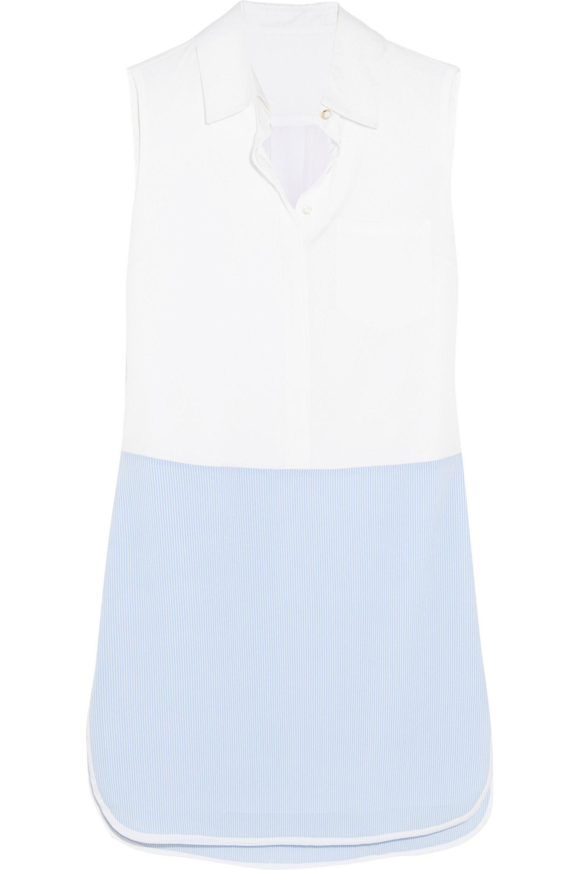 Altuzarra for Target Striped crepe de chine mini shirt dress