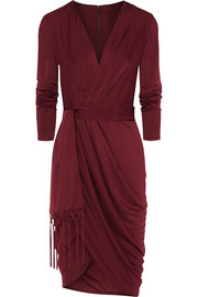 Altuzarra for Target Wrap-effect satin-jersey dress