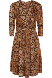 Altuzarra for Target Python-print satin-jersey dress