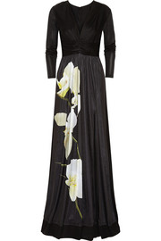 Altuzarra for Target Orchid-print satin-jersey maxi dress