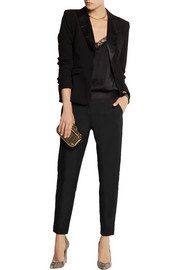 Altuzarra for Target Satin-trimmed stretch-crepe skinny pants