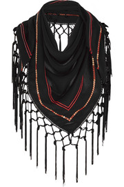Altuzarra for Target Embellished fringed georgette scarf