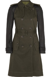 Altuzarra for Target Contrast-sleeve stretch-cotton twill trench coat