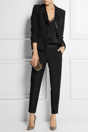 Altuzarra for Target Satin-trimmed stretch-crepe and snake-jacquard blazer