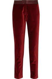 Altuzarra for Target Satin-trimmed velvet skinny pants