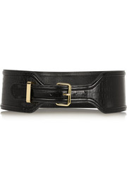 Altuzarra for Target Croc-effect faux leather waist belt