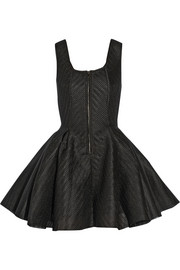 Maje Gulliver wafer-mesh mini dress