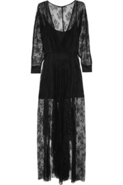 Maje Gabriela lace maxi dress