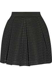 Maje Kosette wafer-mesh mini skirt