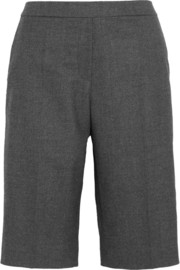 Maje Stretch wool-blend gabardine shorts