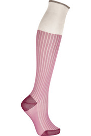 Maria La Rosa Ribbed silk knee socks