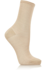 Maria La Rosa Silk-blend ankle socks