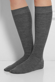 Maria La Rosa Wool-blend knee socks