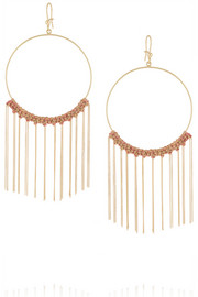 Carolina Bucci 18-karat gold and silk earrings