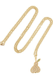 Carolina Bucci 18-karat gold diamond pear necklace