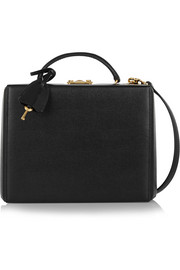 Mark Cross Grace textured-leather box shoulder bag