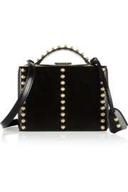 Mark Cross Grace studded patent-leather shoulder bag