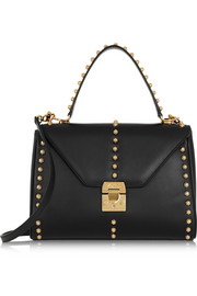 Mark Cross Scottie small studded leather shoulder bag