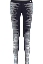 Printed Reflective stretch-jersey leggings