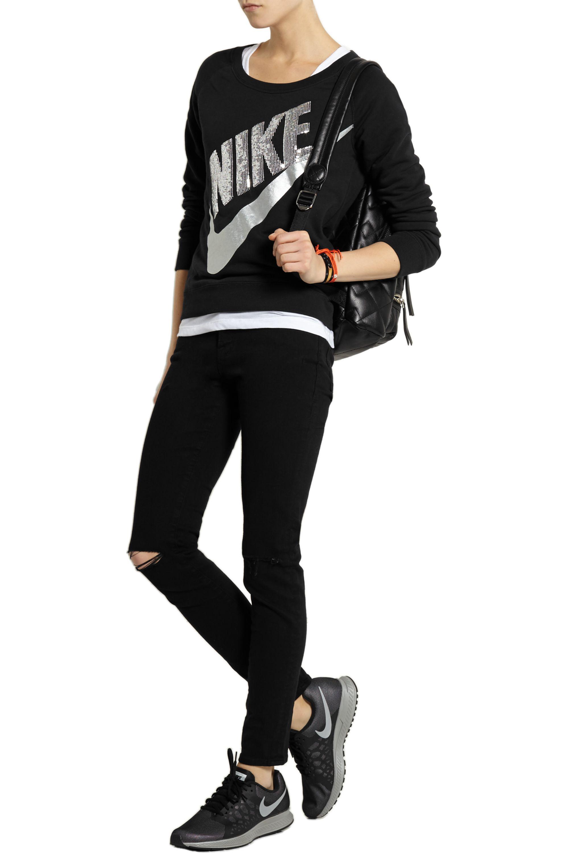 Nike Rally sequined cotton-blend sweatshirt