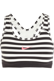 Nike Pro Classic Dri-FIT striped stretch-jersey sports bra