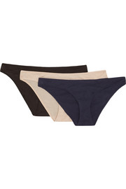 Skin Set of three Pima cotton briefs