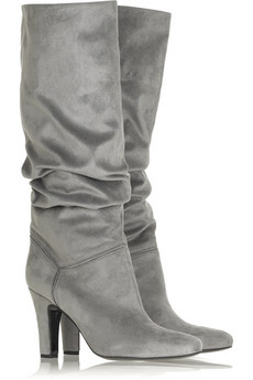 Stella McCartney Slouchy suede-effect boots, $995 @netaporter.com