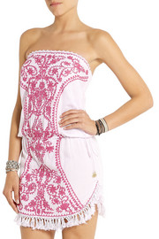 Melissa Odabash Toya embroidered voile mini dress