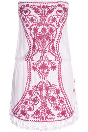 Toya embroidered voile mini dress