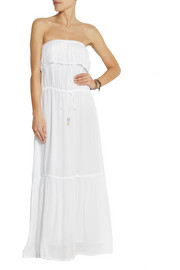 Melissa crochet-trimmed voile maxi dress