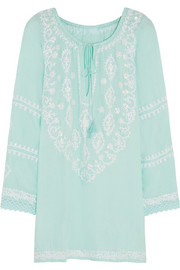 Laura embroidered voile kaftan