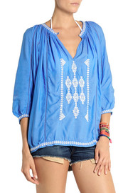 Melissa Odabash Ange embroidered voile top