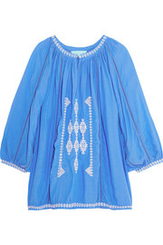 Ange embroidered voile top