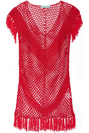 Melissa Odabash Riri fringed crocheted coverup