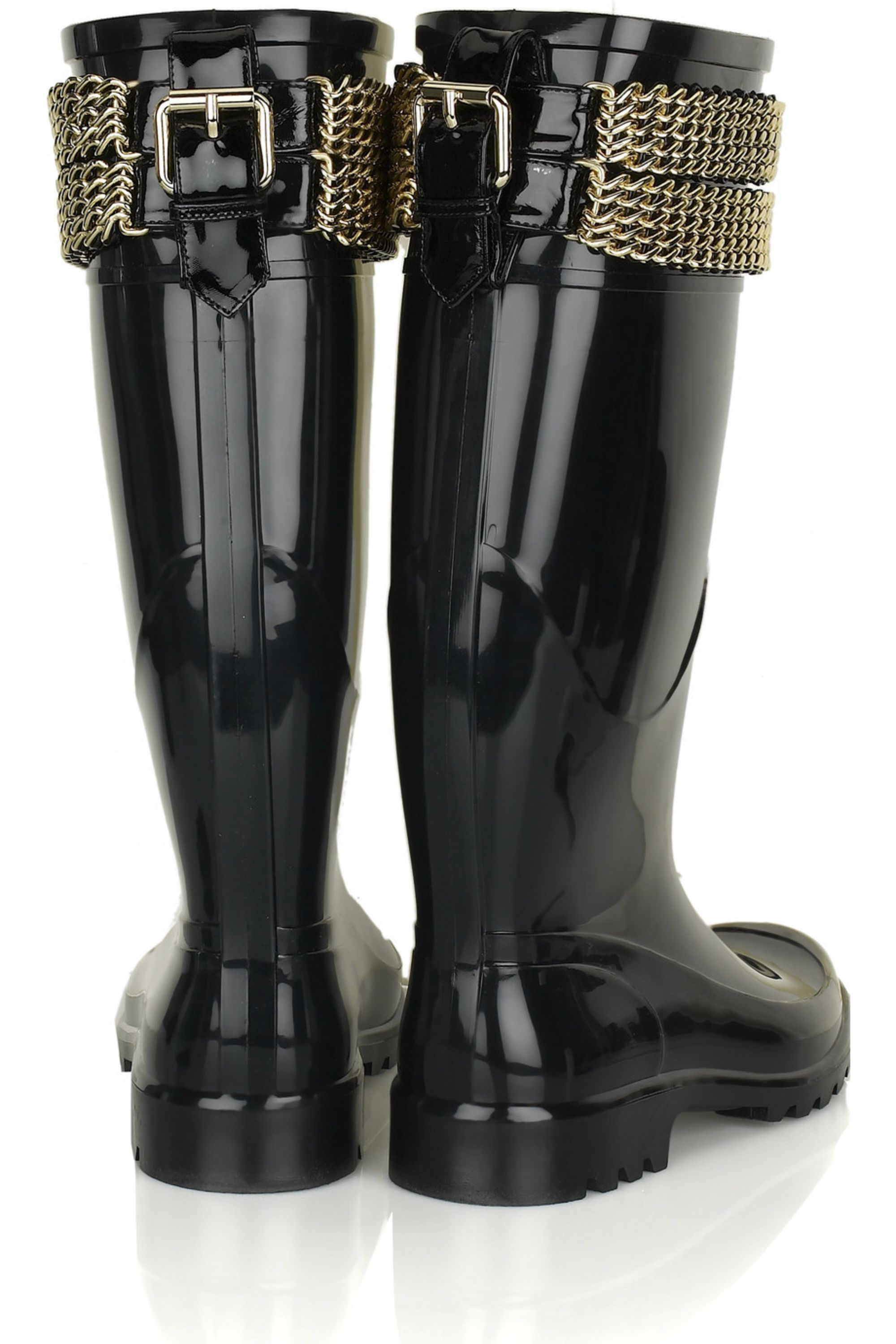 Burberry Shoes & Accessories Chain-embellished Wellington boots