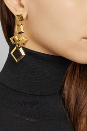 Lele Sadoughi Faceted Chip gold-plated earrings