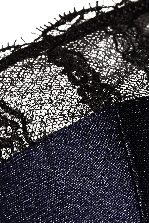 Eres Nouba Black Out lace-trimmed silk-blend satin padded bra