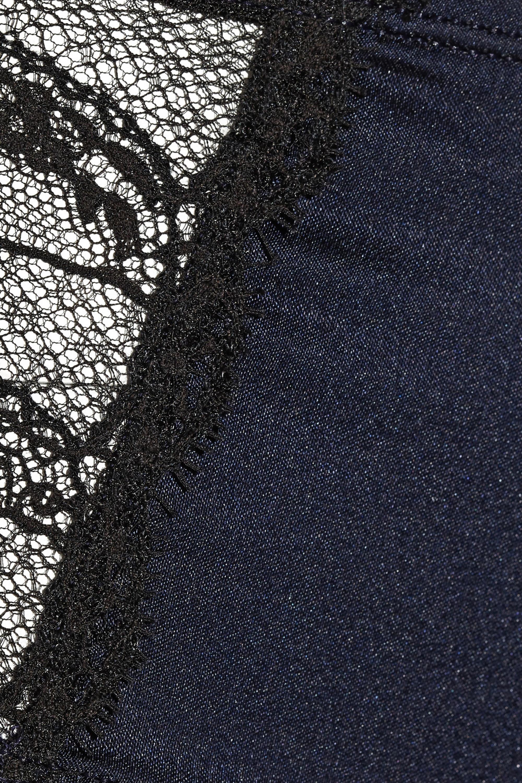 Eres Nouba Bal Masque lace-trimmed silk-blend satin briefs