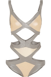 Agent Provocateur Mazzy Metals cutout swimsuit