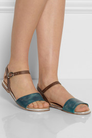 Esquivel + Wear LACMA burnished leather sandals