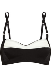 Monette Place du Louvre stretch-silk satin underwired bra