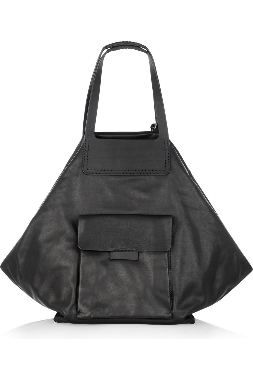 Jil Sander Oversized leather shoulder bag