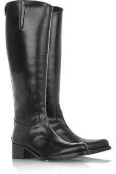 Jil SanderLeather riding boots