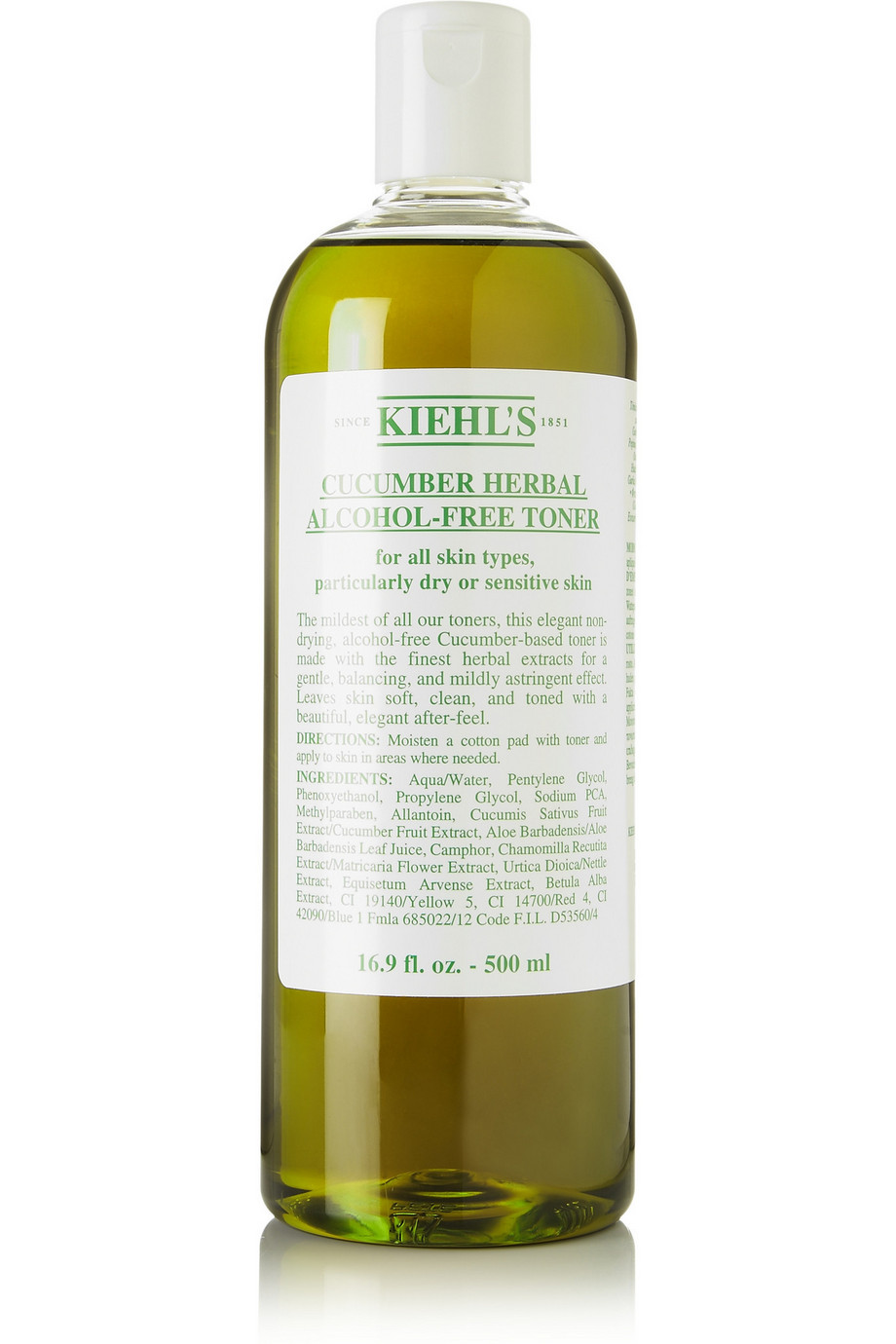 Cucumber Herbal Alcohol-Free Toner, 500ml, by Kiehl's Since 1851