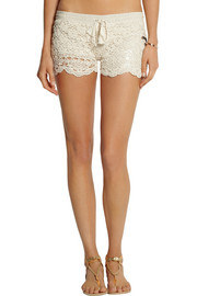 Anna Kosturova Crocheted cotton shorts