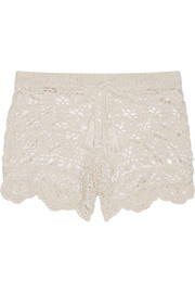 Crocheted cotton shorts