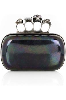 Alexander McQueen Knuckle Duster clutch, $1,595 @netaporter.com