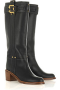 Chloé Buckle-embellished leather boots