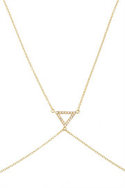 Halleh 18-karat gold diamond body chain