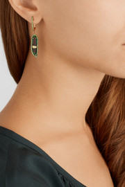 Daniela Villegas The Duo 18-karat rose gold, beetle and tsavorite earrings